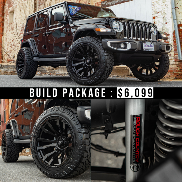 Lifted Jeep Wrangler With 22×12 Fuel Blitz And A 6 Inch